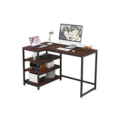 ラック付きデスク パソコンデスク デスク 机 PCデスク L字型 オフィスデスク 机 幅120cm×奥行50cm(棚の方70cm)×高さ