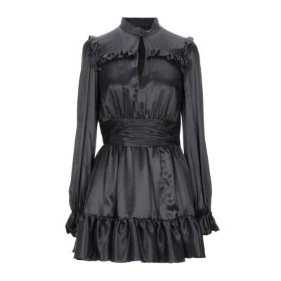 MANGANO ミニワンピース&ドレス スチールグレー 40 レーヨン 68% / シルク 32% ミニワンピース&ドレス