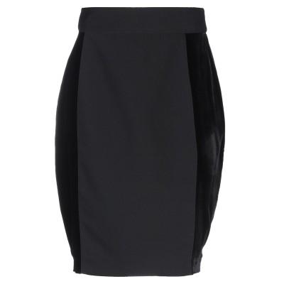 シルビアンヒーチ SILVIAN HEACH ひざ丈スカート ブラック XS ポリエステル 81% / レーヨン 16% / ポリウレタン 3% /
