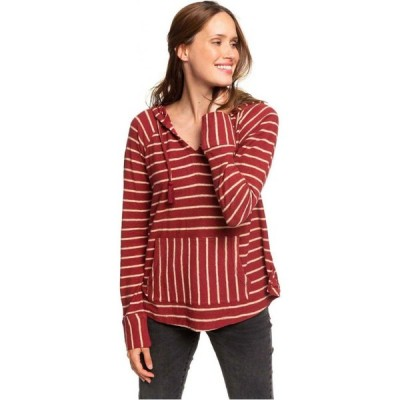 ロキシー Roxy レディース パーカー トップス Long Night Stripes Hooded L/S Top Rhubarb Basic Stripe