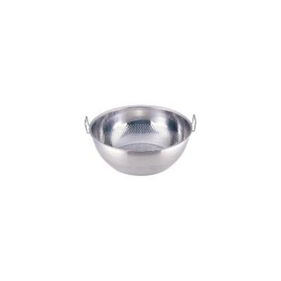 UK18-8パンチング手付浅型ザル35cm CD:037186
