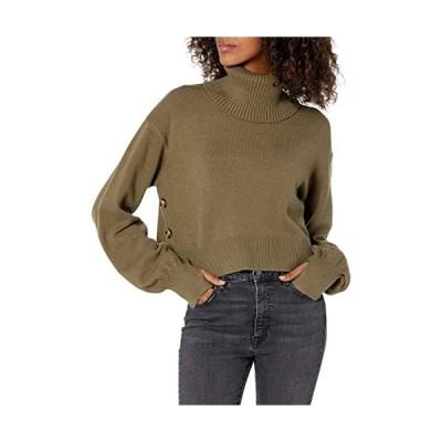 セーター タートルネック クロップド サイドボタン付き(s2111130281)
