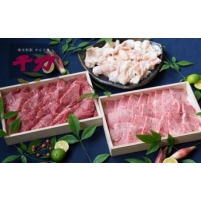 【10-28】松阪牛焼肉セット(ホルモン・赤身カルビ・ロース)