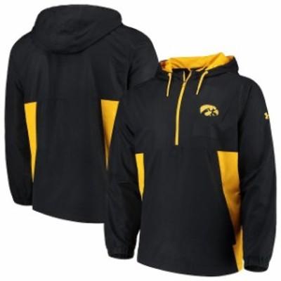 Under Armour アンダー アーマー スポーツ用品  Under Armour Iowa Hawkeyes Black/Yellow Lightweight Quarter-Zip Anora
