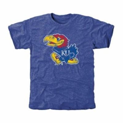 Fanatics Branded ファナティクス ブランド スポーツ用品  Kansas Jayhawks Classic Primary Tri-Blend T-Shirt - Royal Blue