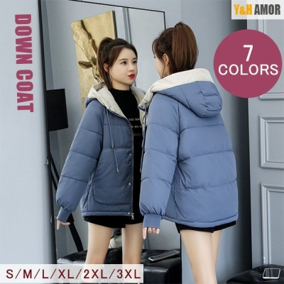 ダウンコート レディース ショート丈 軽量 中綿 ダウンジャケット ダウン 冬服 フード付き アウター 暖かい 防寒 ショート 7色展開