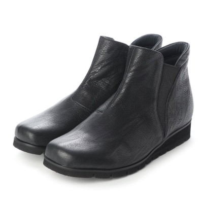 ボンフカヤ BONFUKAYA サイドZIPショートブーツ (ブラック)