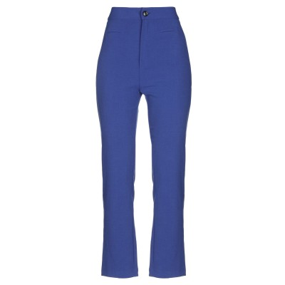 PLEASE パンツ ブルー M ポリエステル 63% / ラミー 32% / ポリウレタン 5% パンツ
