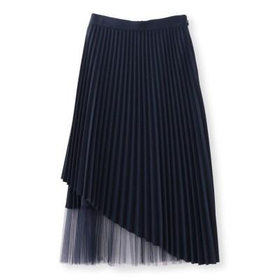 【キャスト コロン】 ベーシックカラー チュールコンビスカート レディース ネイビー M CAST: