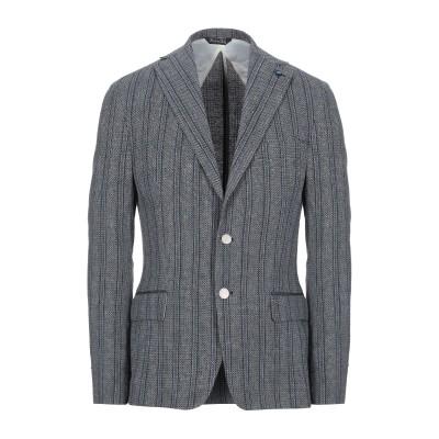 タケシ クロサワ TAKESHY KUROSAWA テーラードジャケット ブルー 44 コットン 57% / 麻 23% / レーヨン 20% テー