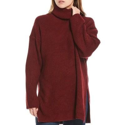 ワイフ レディース パーカー・スウェット アウター Culver Turtleneck Long Sleeve Split Hem Tunic Sweater