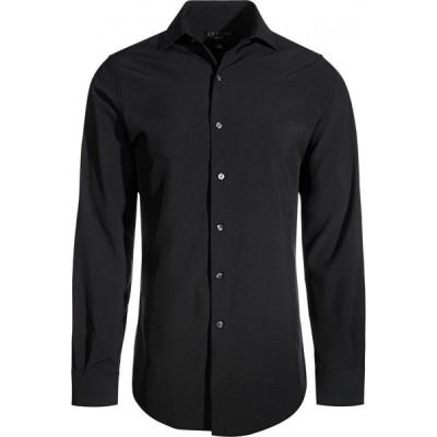 アルファニ Alfani メンズ シャツ スキニー・スリム トップス Slim-Fit 4-Way Performance Stretch Wrinkle-Resistant Dress Shirt Deep Black