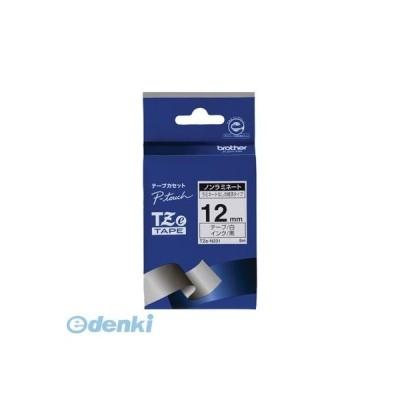 ブラザー販売 TZE-N231 P−TOUCHテープ TZEN231 ノンラミネートテープ TZeテープ 黒文字 ピータッチ