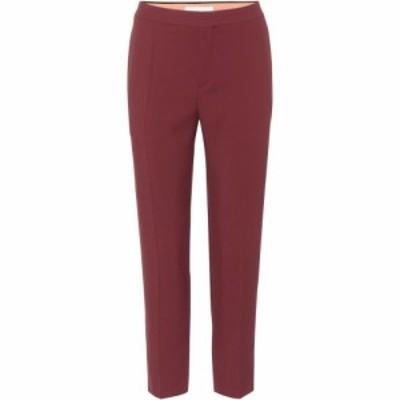 クロエ Chloe レディース スキニー・スリム ボトムス・パンツ Slim-fit trousers Darkened Brown