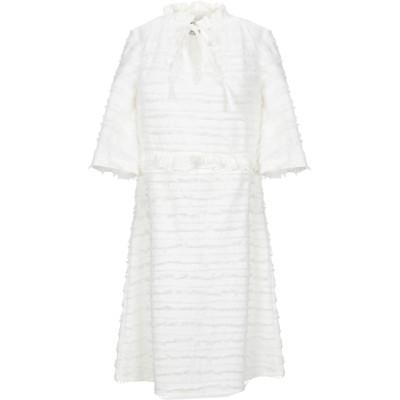 OPALINE ミニワンピース&ドレス ホワイト S コットン 100% ミニワンピース&ドレス