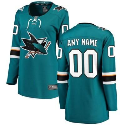 ファナティクス ブランデッド レディース Tシャツ トップス San Jose Sharks Fanatics Branded Women's Home Breakaway Custom Jersey