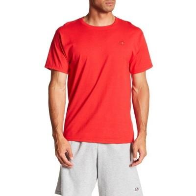 チャンピオン メンズ Tシャツ トップス Classic Jersey Cotton Tee SCARLET