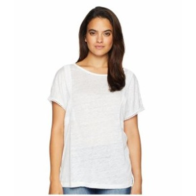NYDJ エヌワイディージェー 服 一般 Linen Tee w/ Lace Detail