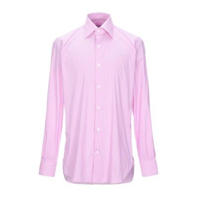 GIAMPAOLO シャツ ライトパープル 41 コットン 77% / ナイロン 18% / ポリウレタン 5% シャツ