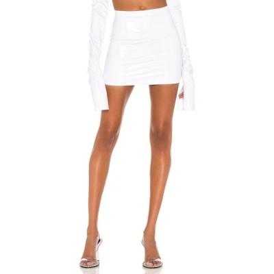 ラクアンスミス LaQuan Smith レディース ミニスカート スカート X REVOLVE High Waist Mini Skirt White