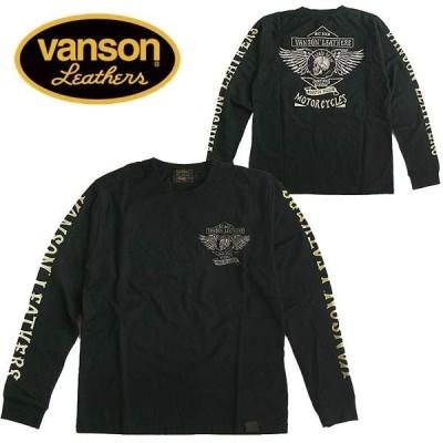 VANSON バンソン 長袖Tシャツ ロンT メンズ スカル 刺繍