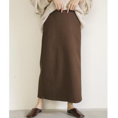 スカート セットアップロングスカート/バックスリットデザインバックウエストゴムスカート