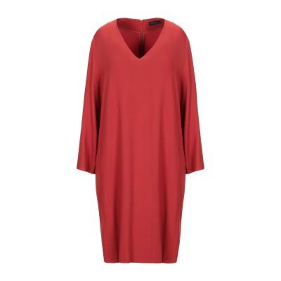 ANTONELLI ミニワンピース&ドレス 赤茶色 48 レーヨン 70% / アセテート 26% / ポリウレタン 4% ミニワンピース&ドレス