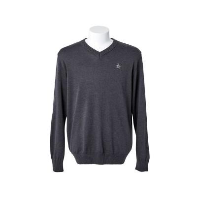 【マンシングウェア】 ウール天竺編みVネックセーター メンズ グレー系 LL Munsingwear