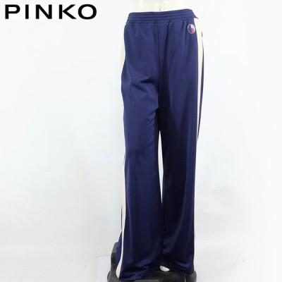 ピンコ(PINKO)レディース ロングパンツ ブルー系  両サイドにベージュライン イタリア製 (サイズ/40)*pi0574