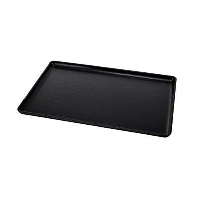福井クラフト トレイ・盆 ブラック 48.5×33×2cm