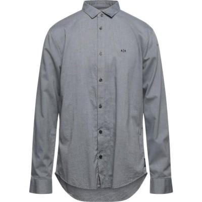 アルマーニ ARMANI EXCHANGE メンズ シャツ トップス solid color shirt Grey