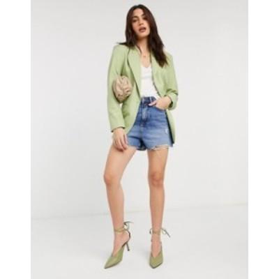 エイソス レディース ジャケット・ブルゾン アウター ASOS DESIGN perfect blazer in green Green