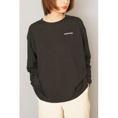 コンバース Tシャツ (CONVERSE)ワンポイント刺繍ロングスリーブTシャツ