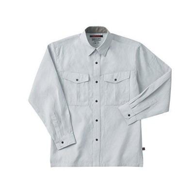 ホシ服装【夏用長袖シャツ】 #783 ホワイトグレーサイズ:L