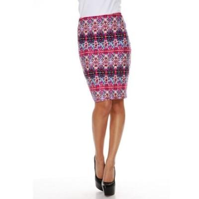 ホワイトマーク レディース スカート ボトムス Kaleidoscope Craze Print 'Victoria' Pencil Skirt