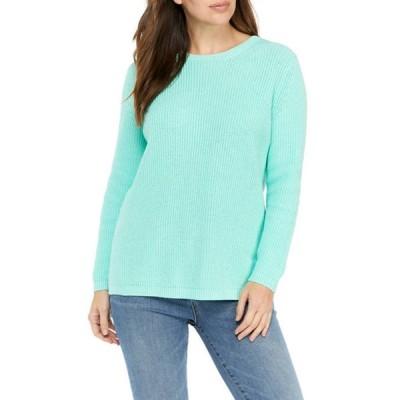 クラウン&アイビー レディース ニット・セーター アウター Women's Long Sleeve Shaker Stitch Sweater