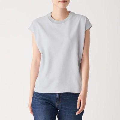 無印良品 丈夫で 洗えるニットTシャツ 婦人 L ライトシルバーグレー 良品計画
