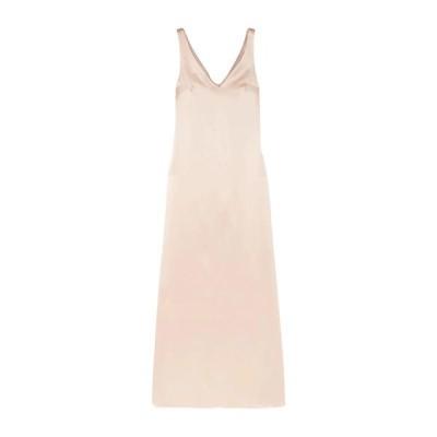 LA COLLECTION シルクドレス  レディースファッション  ドレス、ブライダル  パーティドレス ベージュ