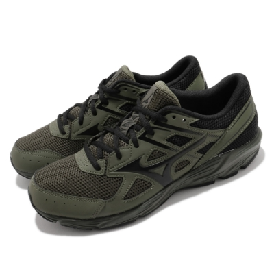 Mizuno 慢跑鞋 Maximizer 23 運動休閒 男鞋 美津濃 路跑 緩震 輕量 透氣 綠 黑 K1GA210086