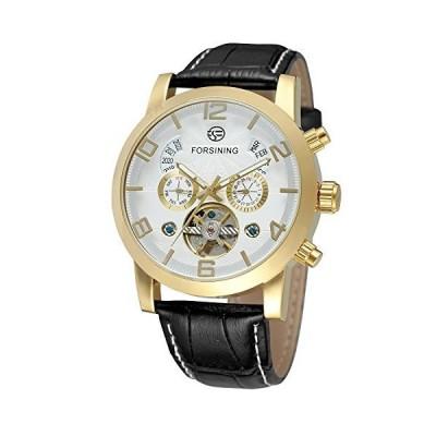(新品) FORSINING Men's Unique Design Luxury Automatic Movement Popular Style Wristwatch with Leather Strap
