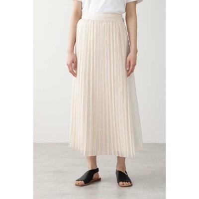 HUMAN WOMAN / ヒューマンウーマン ◆オーガンジープリーツスカート