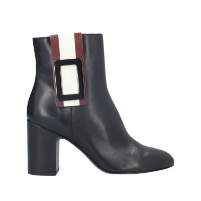 WHAT FOR ショートブーツ ブラック 35 牛革(カーフ) ショートブーツ