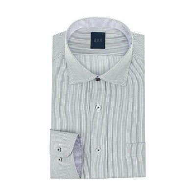 【山喜オフィシャル】 a.v.v HOMME 長袖 ワイドカラーボタンダウンワイシャツ メンズ グリーン L YAMAKI official