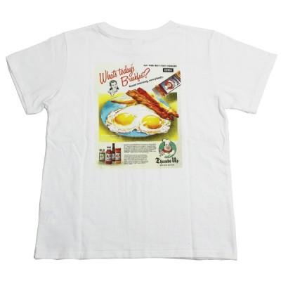 【ネコポス便対応】 Miss EDWIN MT5039 AMERICAN POP TEE アメリカン ポップ Tシャツ LADIES レディース 29 BREAK FAST Mサイズ