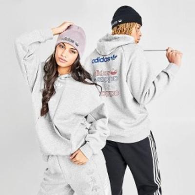 アディダス オリジナルス レディース パーカー adidas Originals Graphic Allover Print Hoodie フーディー Grey Metallic