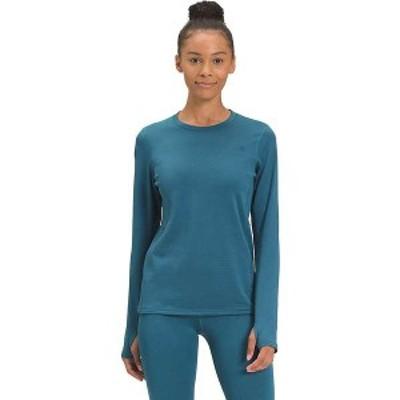ノースフェイス レディース Tシャツ トップス The North Face Women's Ultra-Warm Poly Crew Mallard Blue
