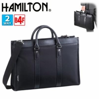ビジネスバッグ 自立 ブリーフケース メンズ B4 A4ファイル対応 軽量 2way ブランド HAMILTON No:26579 ショルダーベルト 大開き 大容量
