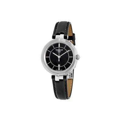 ティソット 腕時計 Tissot Flamingo ブラック ダイヤル レディース クォーツ 腕時計 T0942101605100