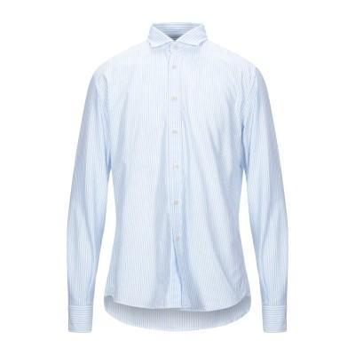 PORTOFIORI シャツ スカイブルー 42 コットン 100% シャツ