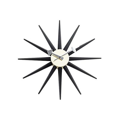 SHISEDOCO George Nelson サンバーストクロック ブラック 装飾 モダン サイレント壁時計 自宅 キッチン リビングルーム オフィ